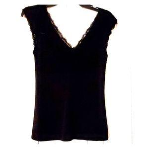 Express black, laced at top, sleeveless.